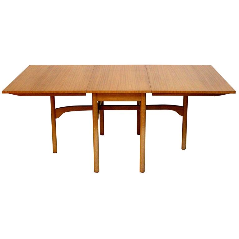 Modern Drop Leaf Dining Table Part - 36: 1960s Mid-Century Modern Brown Saltman Ribbon Mahogany Drop-Leaf Dining  Table 1