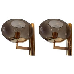 Pair of 1960s, Italian Sciolari Mid-Century Wall Lights