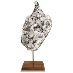Mineral Specimen Sculpture Apophyllite Grown on a Crystal Base