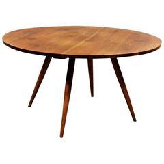 Walnut Circular Dining Table by George Nakashima