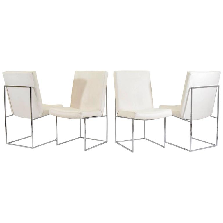 """Set of Four (or Eight) Milo Baughman for Thayer Coggin """"1187"""" Dining Chairs"""