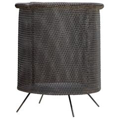 1950s Atomic Wire Mesh Trash Can Wastebasket Stan Hawk Expanded Metals
