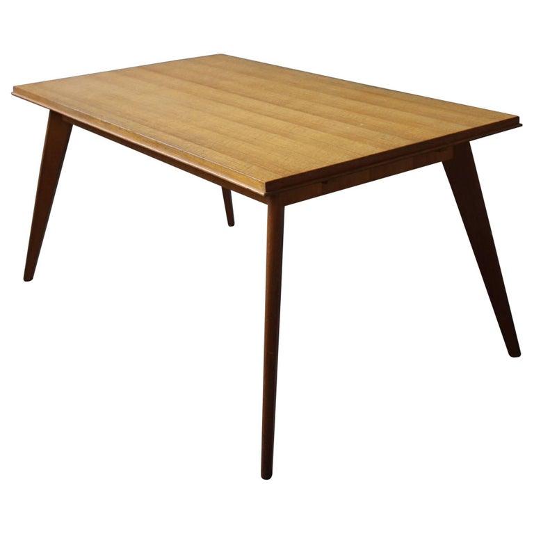 A Fine 1950s Compass Oak Table For Sale