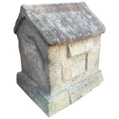 Japanese Antique Stone Architectural Garden House hand carved, Unique