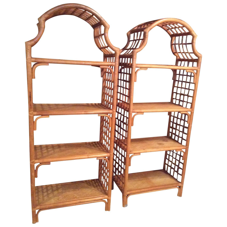 bamboo furniture collapsible loveseat los rattan angeles bookshelf vintage i shelf