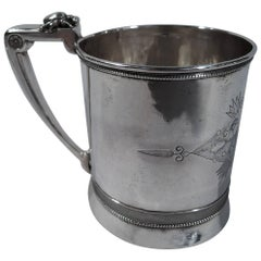 Gorham Coin Silver Baby Cup with Stylized Ornament, circa 1865