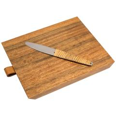 Carl Aubock Cheese Board with Knife