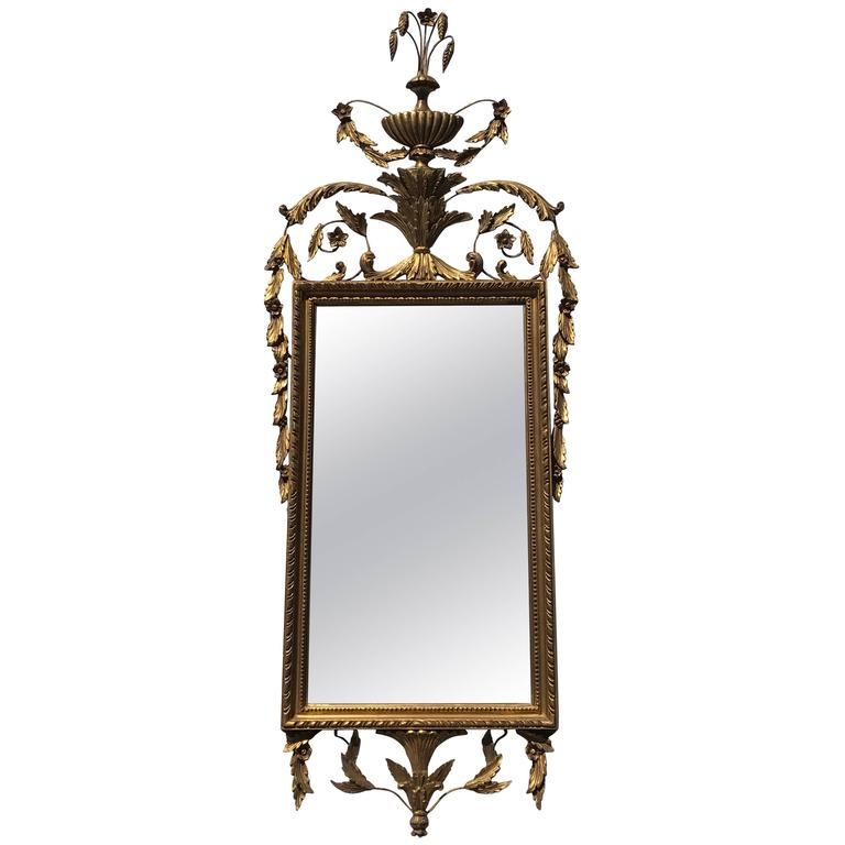 Labarge Attributed Gold Leafed Hollywood Regency Wall Mirror