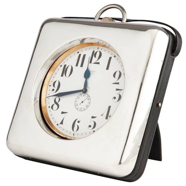 Monumental Silver Goliath Clock, circa 1910-1915 For Sale