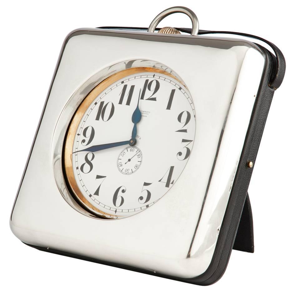 Impressive Giant Silver Goliath Clock Circa 1910 1915 For