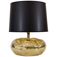 Tommaso Barbi Attributed Organic Form Brass Table Lamp