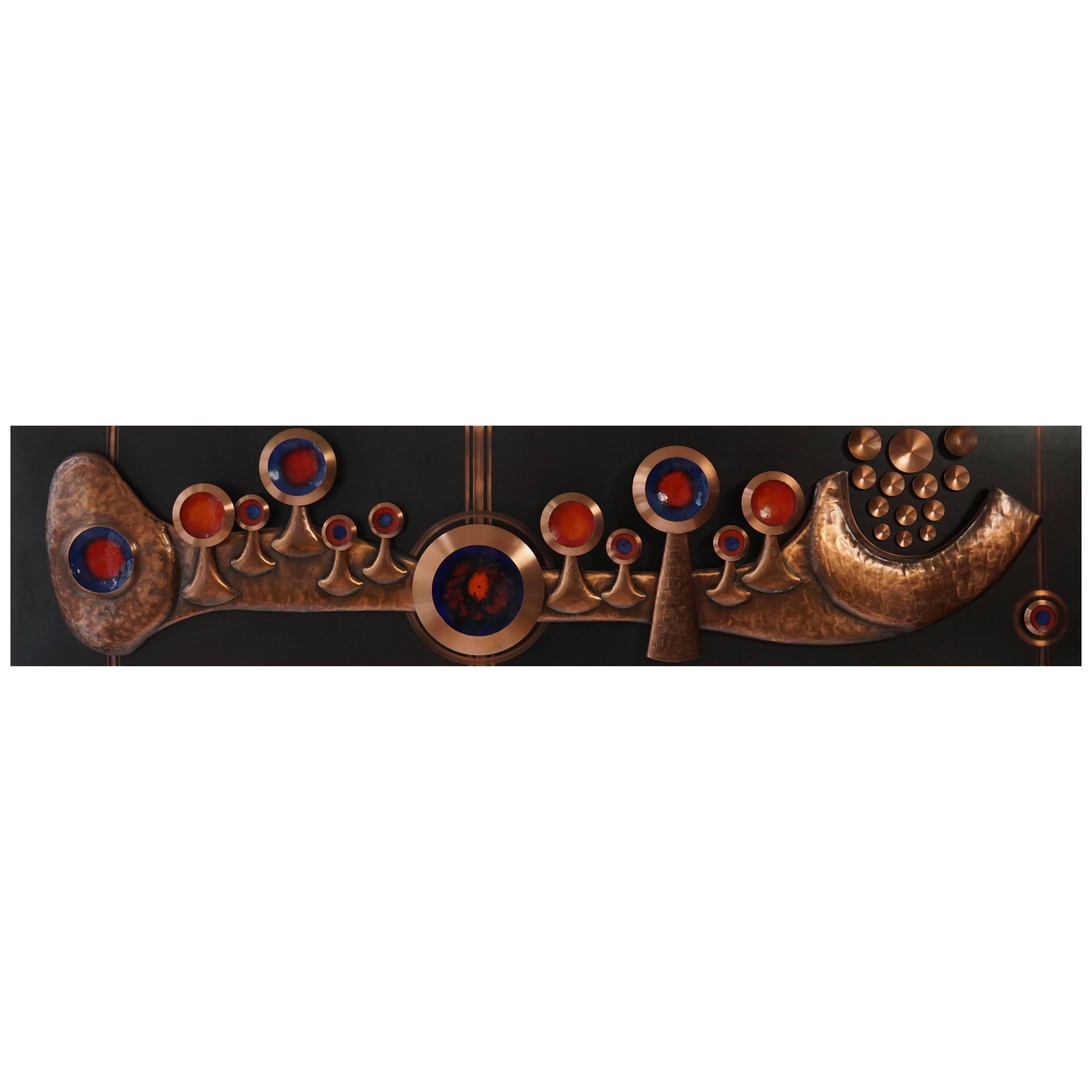 Copper Wall-Mounted Sculpture