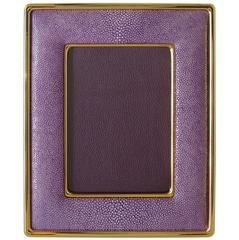 Lilac Shagreen Photo Frame