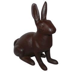19th Century Cast Iron Rabbit Garden Ornament