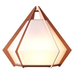 Harlow Wall Sconce with White Glass and Satin Copper, Nickel, Brass
