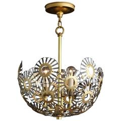 Marie Suri Steel and Bronze Pendant Light