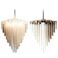 Kelly Chandelier with Blackened Steel and Satin Brass Chains