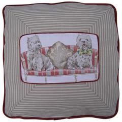 Dog or Pet Pillow in Novelty fabric, Unusual Pillow