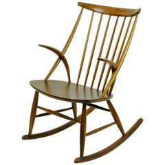 Scandinavian Rocking Chair by Illum Wikkelsö