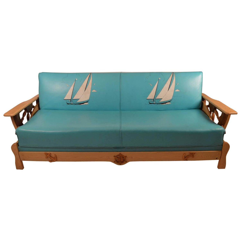 Funky Nautical Theme Sofa Bed At 1stdibs