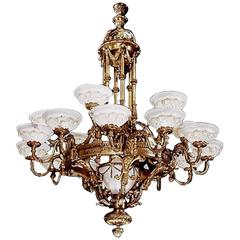 Antique Neoclassical Chandelier