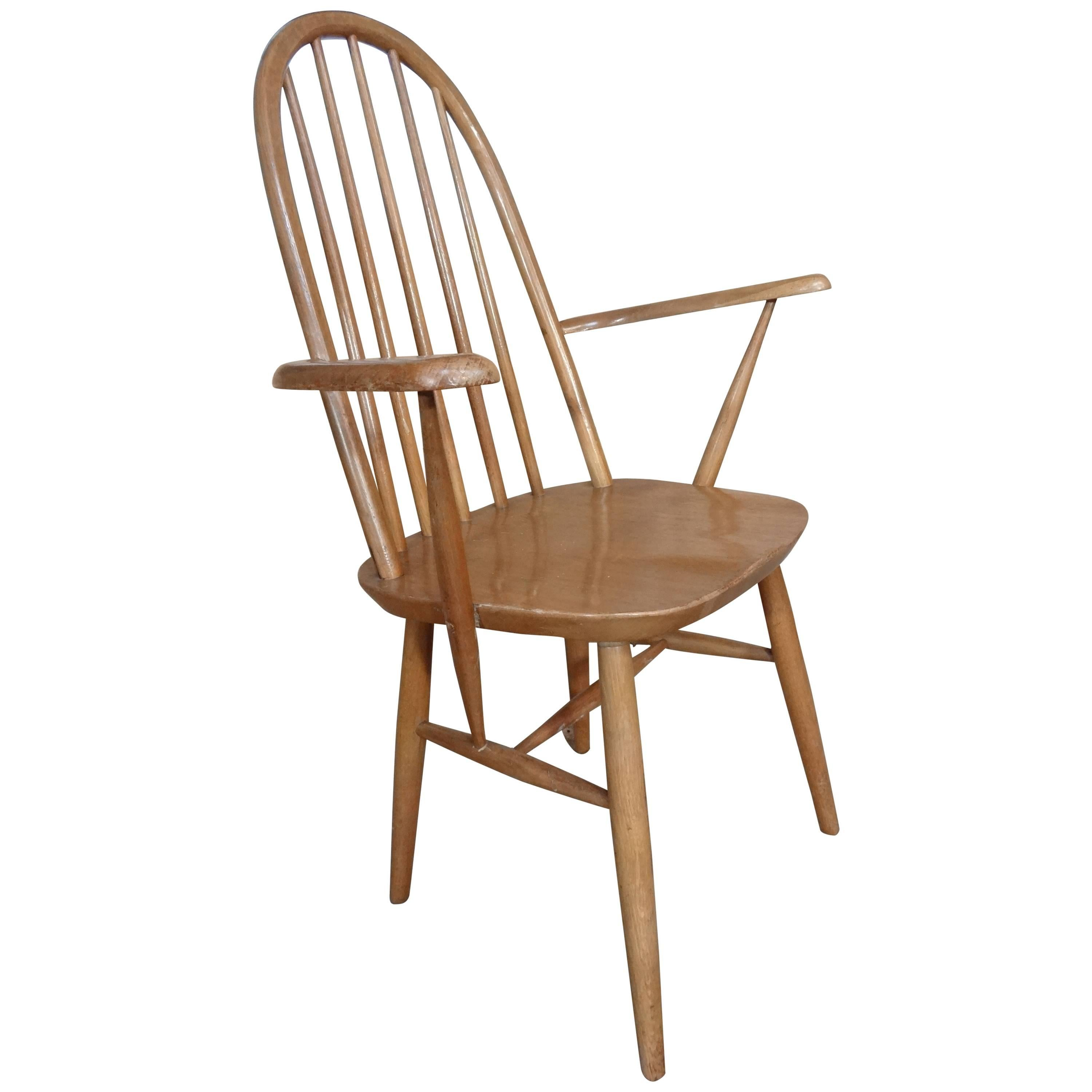 20th Century Retro Vintage Wooden Armchair or Bedroom Chair