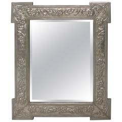 Metal Clad Mirror with Outset Corners