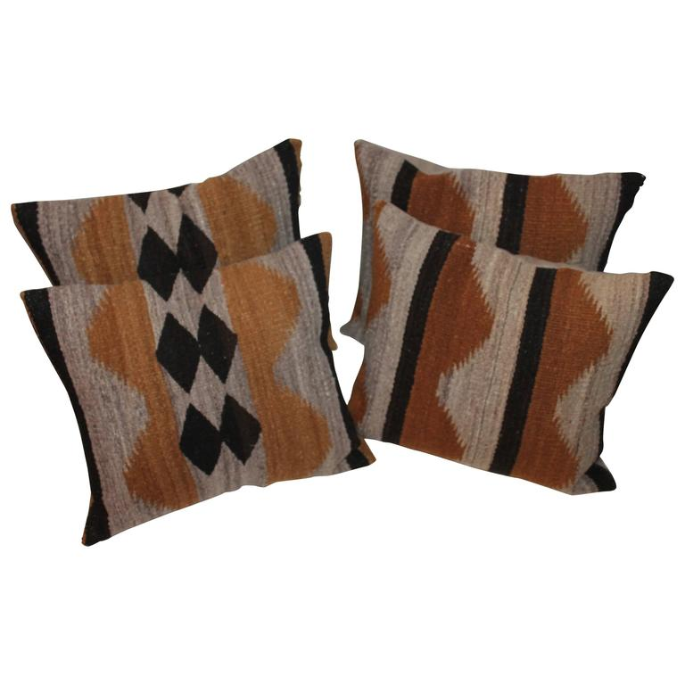Navajo Geometric Indian Weaving Pillows