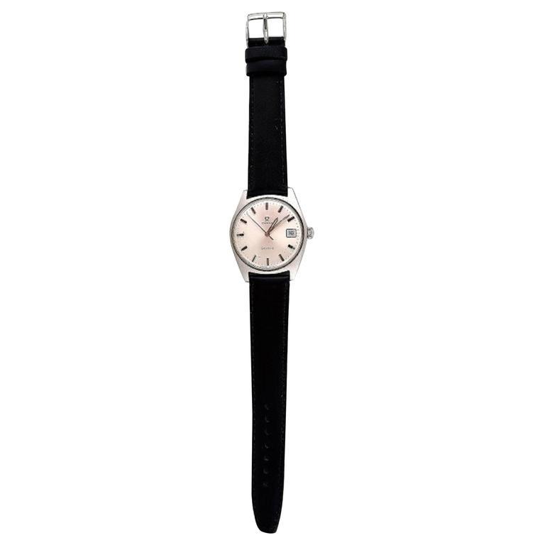 Steel Omega Geneva Vintage Wristwatch, circa 1969