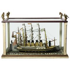 American Cased Ship Diorama, circa 1930