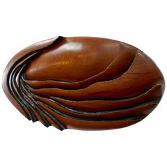 Oval Shaped Redwood Sculpture