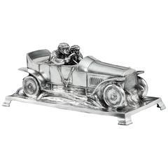Edwardian Motor Car Cigar Box by WMF, 1910