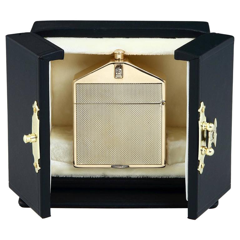9-Carat Gold Rolls Royce Lighter by Alfred Dunhill, 1924 For Sale