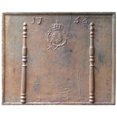 18th Century Pillars with Arms of France Fireback