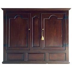 Antique Wardrobe Livery Cupboard Solid Oak 18th Century George III