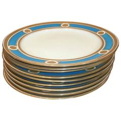 Antique Minton Set of Nine Plates from 1879