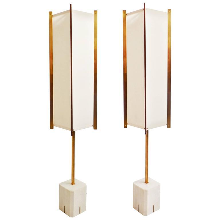 rare pair of lte12 prisma floor lamp by ignazio gardella azucena 1960 for sale at 1stdibs. Black Bedroom Furniture Sets. Home Design Ideas