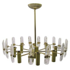 Chandelier Second Half of the 20th Century Gaetano Sciolari