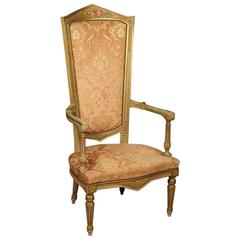 20th Century Venetian Lacquered and Gilded Armchair