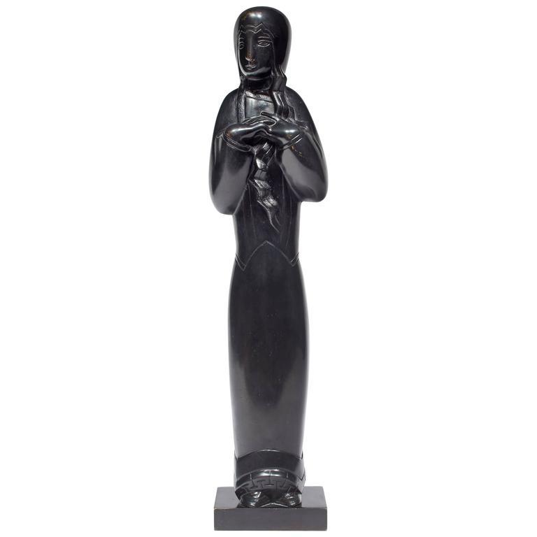 Sculpture 'Woman Standing' by Joseph Csaky