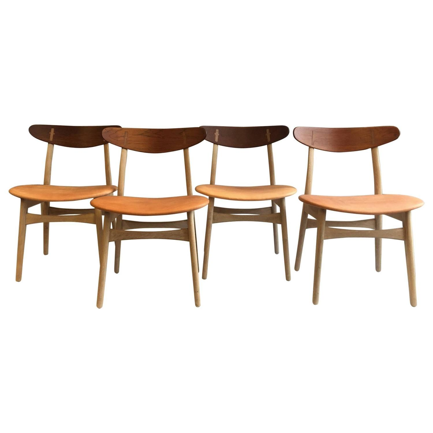 Set of Four Hans J Wegner CH 30 Carl Hansen 1952 at 1stdibs