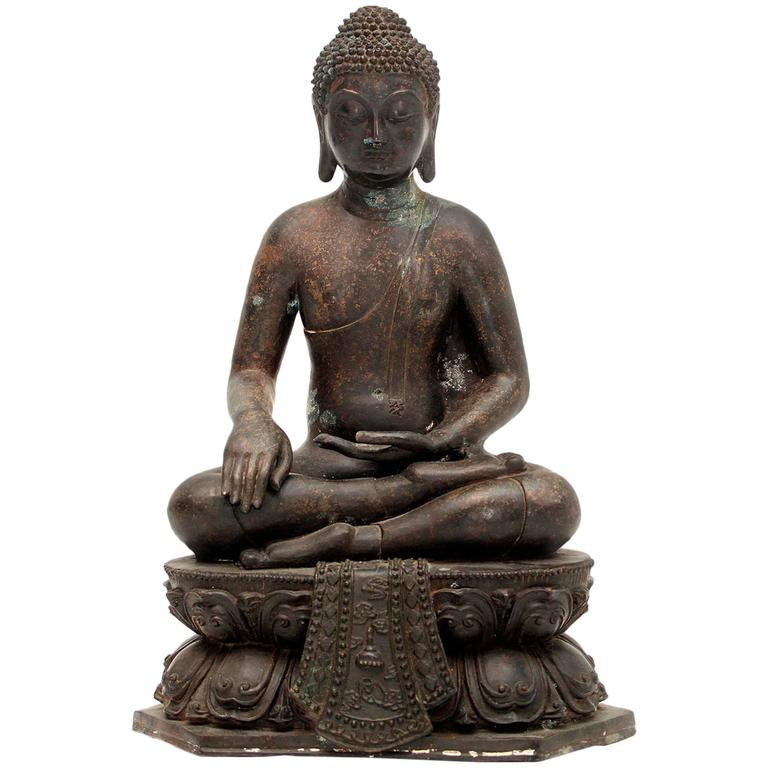 20th Century Bronze Buddha Sculpture For Sale