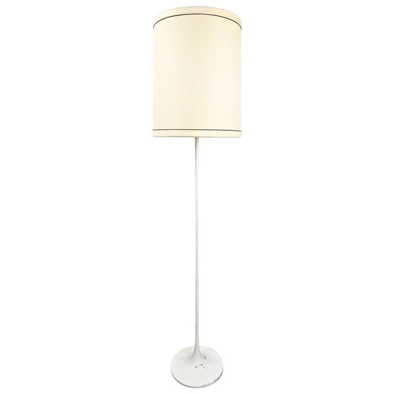 midcentury modern tulip style floor lamp in the style of eero saarinen 1