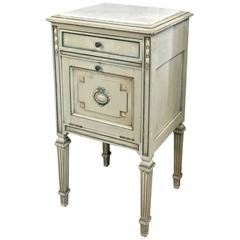 19th Century French Louis XVI Painted Nightstand