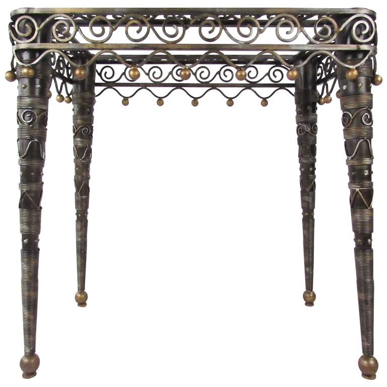 Contemporary Modern Ornate Decorator's Side Table