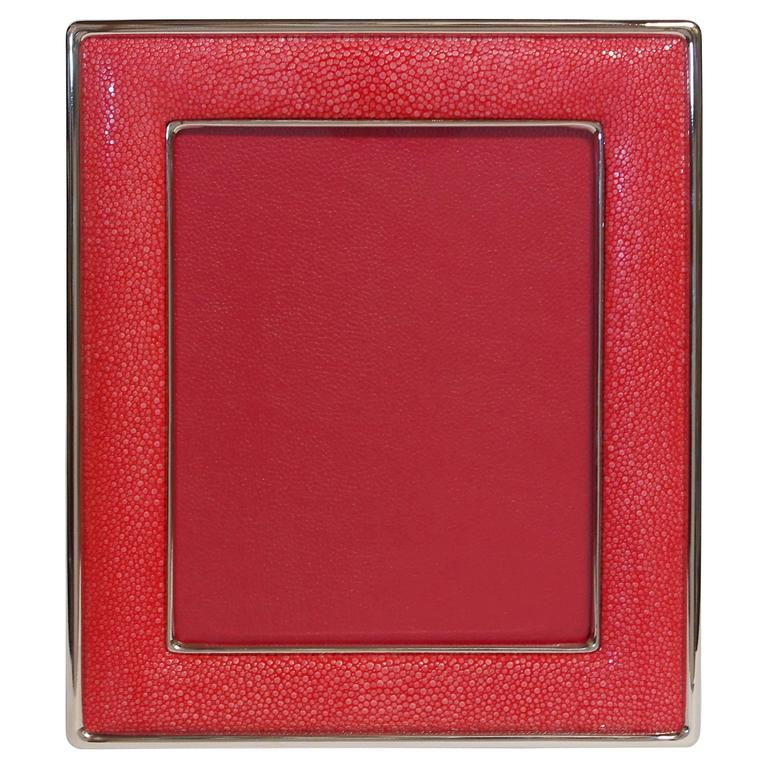 Red Shagreen Photo Frame