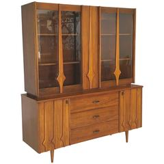 Mid-Century Modern Sideboard and Hutch in the Brasilia Style