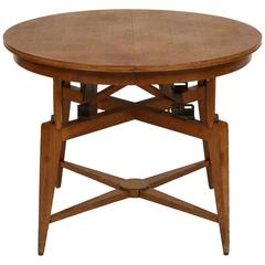Marcel Gascoin 1950s Convertible Coffee Centre Dining Table, Mid-Century, France