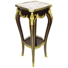 Fine French 19th-20th Century Louis XV Style Gilt Bronze-Mounted Side Table