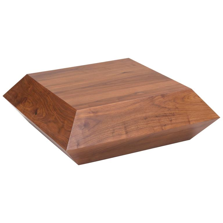 Deca Coffee Table In Solid Walnut By Estudio Persona For